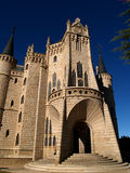 Astorga episcopal palace. Spanish santiago route: astorga episcopal palace Royalty Free Stock Image
