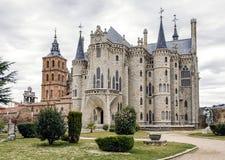 Astorga Epsiscopal Paleis Stock Fotografie