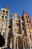 astorga katedralny katolicki sławny Spain Obrazy Royalty Free