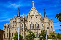 Astorga Leon Palacio Episcopal of Antoni Gaudi Stock Photography
