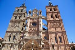 Astorga's Cathedral facade Stock Photo
