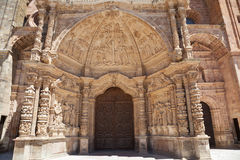 Astorga's Cathedral portal detail Stock Photography