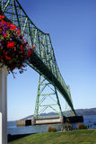 The Astoria Bridge & Flowers Royalty Free Stock Photos
