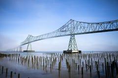Astoria bridge. Over Columbia river in Oregon Stock Images