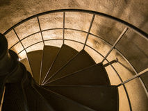 The Astoria Column spiral staircase Royalty Free Stock Photography