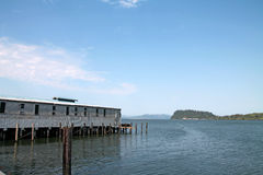 Astoria harbor in Oregon Stock Photo