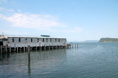 Astoria harbor in Oregon Stock Image
