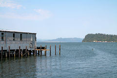 Astoria harbor in Oregon Royalty Free Stock Photography