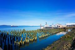 Astoria, lungomare dell'Oregon Fotografie Stock Libere da Diritti