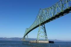 Astoria-Megler桥梁在波特兰,俄勒冈 库存照片