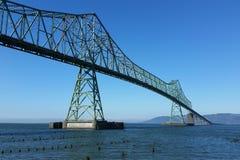 Astoria-Megler桥梁在波特兰,俄勒冈 库存图片