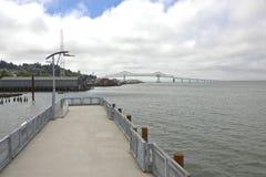 Astoria-Megler Bridge and pier Oregon. Stock Image
