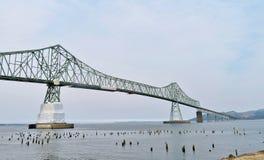 Astoria-Megler Bridge, a steel cantilever through truss bridge between Astoria, Oregon and Washington Royalty Free Stock Image