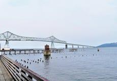Astoria-Megler Bridge, a steel cantilever through truss bridge between Astoria, Oregon and Washington Royalty Free Stock Photo