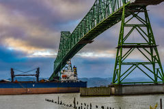 Astoria Oregon bro Arkivfoton