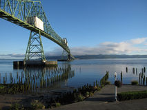 Astoria Oregon Sunrise Bridge Stock Image