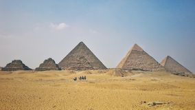 The Great Pyramids of Giza stock image