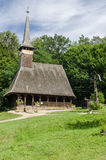 Astra Museum nacional em Sibiu - igreja de madeira velha Imagem de Stock Royalty Free