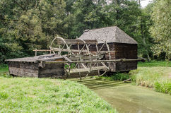 Astra Museum national à Sibiu - vieux moulin à eau en bois Photos libres de droits