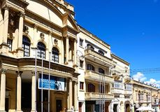 Astra theatre and shop, Victoria, Gozo. Stock Photography