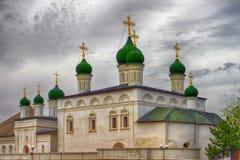 Astracã, Rússia - 30 de abril de 2017 Astracã kremlin, igreja velha, editorial Imagem de Stock Royalty Free