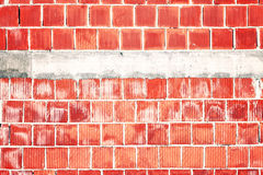 Astract red brick wall. Abstract rough red brick wall with place for text Royalty Free Stock Image