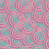 Astract seamless pattern with spiral. Vector stock illustration Royalty Free Stock Image