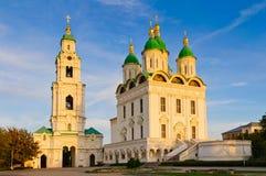 Astrakan het Kremlin in Rusland stock foto's