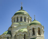 Astrakhan.The dome of the Vladimir Cathedral. stock images
