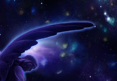 astral blue för ängel stock illustrationer
