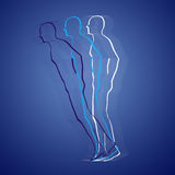 Astral body projection Stock Images