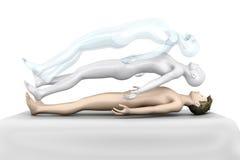Astral Projection. 3d rendered Illustration. Astral Projection stock illustration