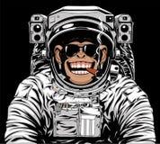 Astranavt alegre do macaco ilustração stock