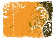 Astratto-giallo Fotografie Stock