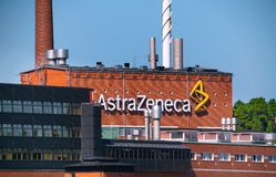 AstraZeneca - fabrik Royaltyfria Foton