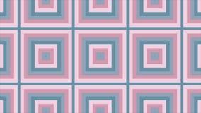 Astrazione avvolta - i quadrati compaiono uno dall'altro e si espandono archivi video