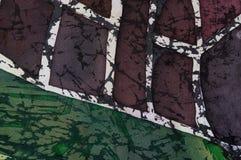 Astrazione, batik caldo, struttura del fondo, fatta a mano su seta illustrazione vettoriale