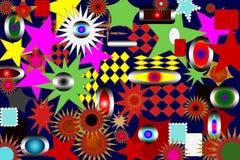Astrazione Bello e festivo Stella colorata Priorità bassa nera illustrazione di stock