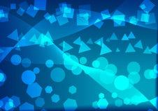 Astrazione blu illustrazione di stock
