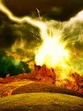 Astrazione bruciante della roccia illustrazione vettoriale