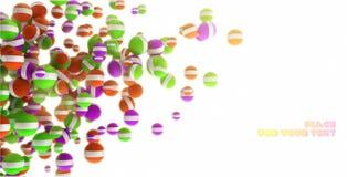 Astrazione colorata della sfera 3d illustrazione di stock