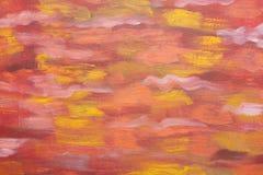 Astrazione colourful luminosa delle onde Disegno artistico Colori freddi Pittura a olio originale su tela di canapa Immagine crea Immagine Stock
