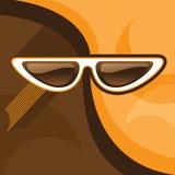 Astrazione con i retro occhiali da sole Fotografia Stock