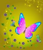 Astrazione con la farfalla Immagine Stock