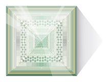 Astrazione con la piramide di vetro. Fotografie Stock
