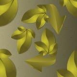 Astrazione dalle foglie e dalle frecce Illustrazione di Stock