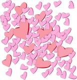 Astrazione del biglietto di S. Valentino del cuore Immagini Stock Libere da Diritti