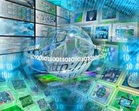Astrazione del computer Fotografie Stock
