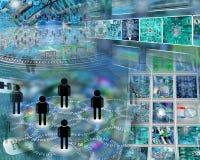 Astrazione del computer Immagine Stock