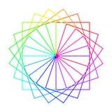 Astrazione del modello di colore di divertimento dei quadrati in un cerchio illustrazione di stock